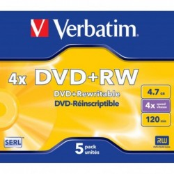 DVD+RW 5 Unidades Verbatim