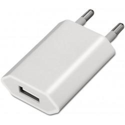 Cargador USB Aisens Mini cargador AISENS USb 5V/1A Blanco (A110-0063)