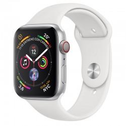 Apple Watch Series 4 GPS+Cellular 44mm Aluminio Plata con Correa Deportiva Blanca