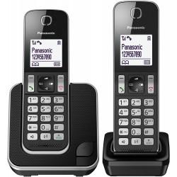 Teléfono Inalámbrico Panasonic KX-TGD312 Duo Negro
