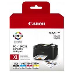 Tinta Canon 1500XL Pack de los 4 Colores 9182B004