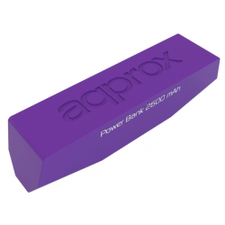 Batería Powerbank 2600 mAh Approx Pocket Universal Púrpura