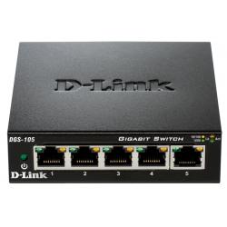 Switch 5 Puertos Gigabit D-Link DGS-105