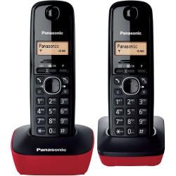 Teléfono Inalámbrico Panasonic KX-TG1612SPR Duo Negro/Rojo
