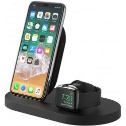 Base de Carga Inalámbrica para Apple Watch y iPhone con Puerto USB-A Belkin Boost Up Negra