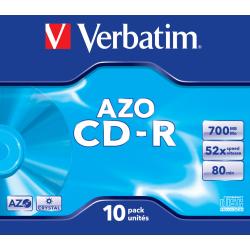 CD-R 700MB 10 Unidades Verbatim AZO