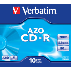 CD-R Verbatim 52x 700Mb AZO...