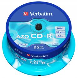 CD-R AZO Tarrina 25 Unidades Verbatim