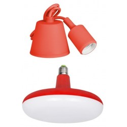Lámpara Led Colgante EDM con Bombilla E27 24W Rojo