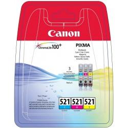 Tinta Canon 521 Pack de los 3 Colores CLI-521C/M/Y
