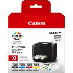 Tinta Canon 2500XL Pack de los 4 Colores 9254B004