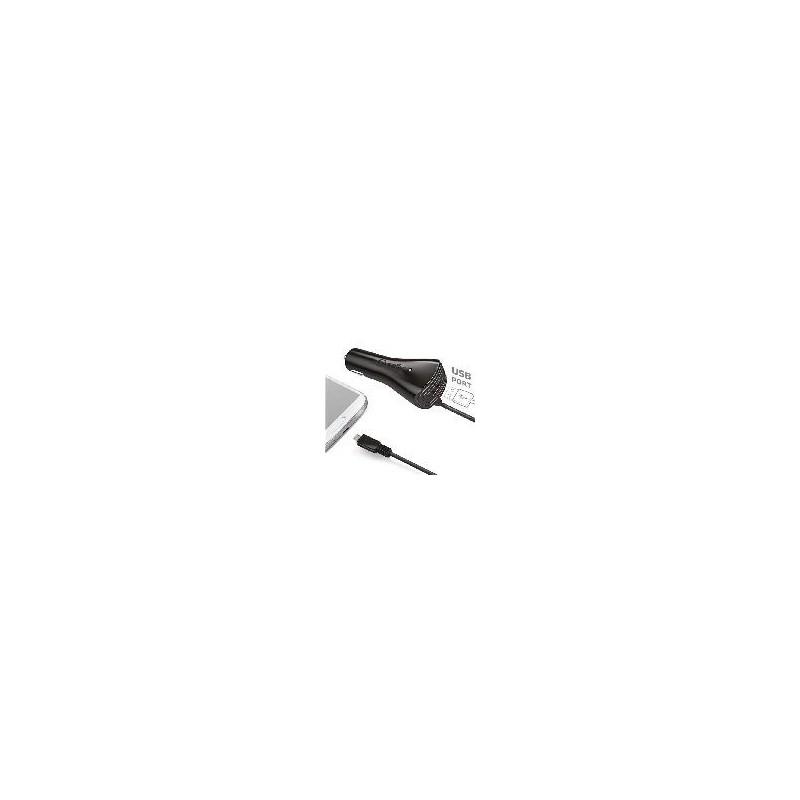 Celly Cargador De Coche Micro Usb Mas Usb Negro 2A