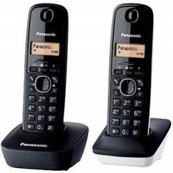 Teléfono Inalámbrico Panasonic KX-TG1612 Duo Negro y Negro/Blanco