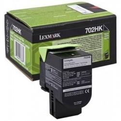 Tóner Lexmark 702HK Negro