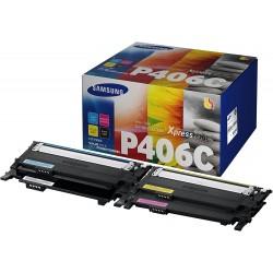 Tóner Samsung CLT-P406C Pack de los 4 Colores