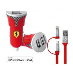 Cargador USB de Coche Ferrari Dual