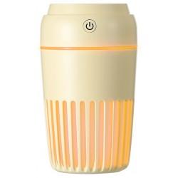 Humidificador de Aire Platinet USB 300ml Amarillo con Led de Noche en 7 Colores