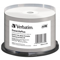DVD-R Tarrina 50 Unidades Printables Verbatim