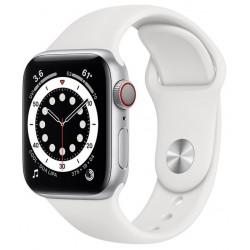 Apple Watch Series 6 GPS + Cellular 40mm Aluminio en Plata con Correa Deportiva Blanca