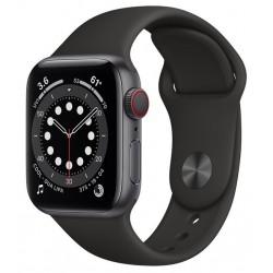 Apple Watch Series 6 GPS + Cellular 40mm Aluminio en Gris Espacial con Correa Deportiva Negra