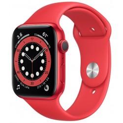 Apple Watch Series 6 GPS 44mm Aluminio en Rojo con Correa Deportiva Roja