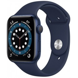 Apple Watch Series 6 GPS 44mm Aluminio en Azul con Correa Deportiva Azul Marino Intenso