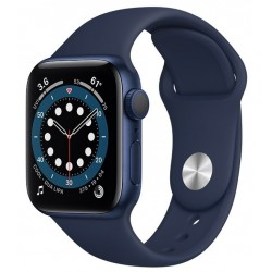 Apple Watch Series 6 GPS 40mm Aluminio en Azul con Correa Deportiva Azul Marino Intenso