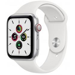 Apple Watch SE GPS + Cellular 44mm Aluminio en Plata con Correa Deportiva Blanca