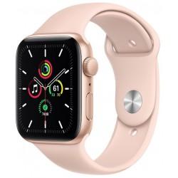 Apple Watch SE GPS 44mm Aluminio en Oro con Correa Deportiva Rosa Arena