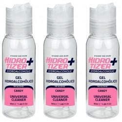 Gel Hidroalcohólico Hidrotizer Plus 50ml Candy Pack de 3 Unidades