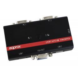 Kvm de 2 Puertos VGA y 3...