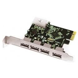 Tarjeta PCIe 4 Puertos USB...