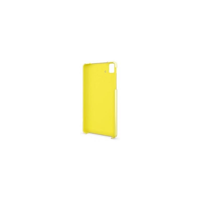 Funda para Bq Aquaris E5 Cristal Amarillo
