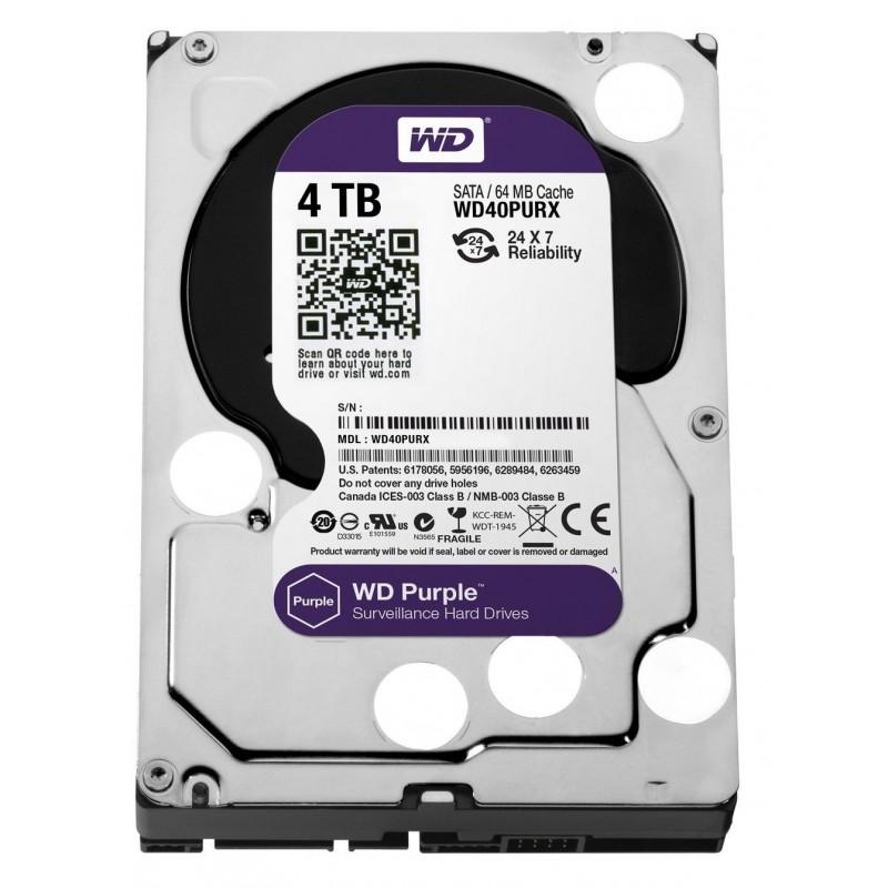 """SATA Hard Drive 3.5 """"WD 4TB Purple WD40PURX"""