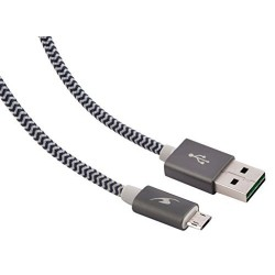 Cable USB AM - MicroUSB AM 1,2m Bluestork Gris