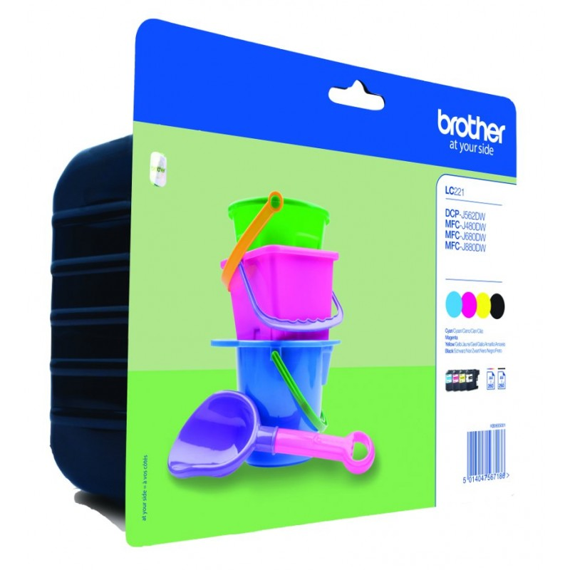 Brother LC221 ink pack 4 colors
