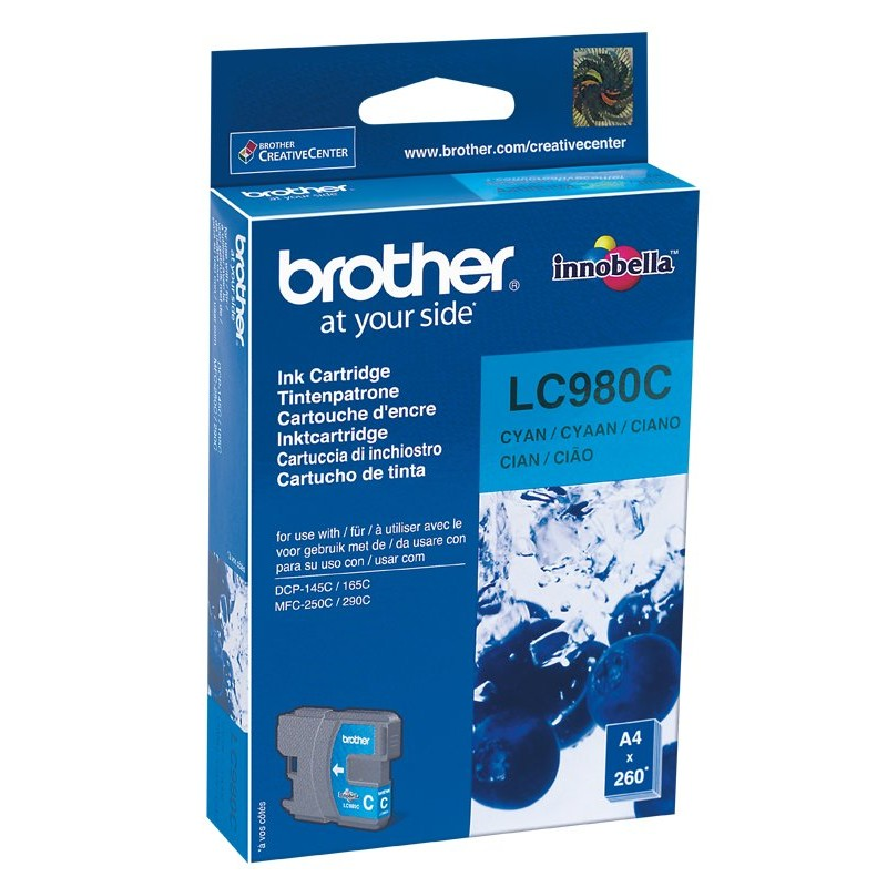 Brother LC980C Cyan Ink