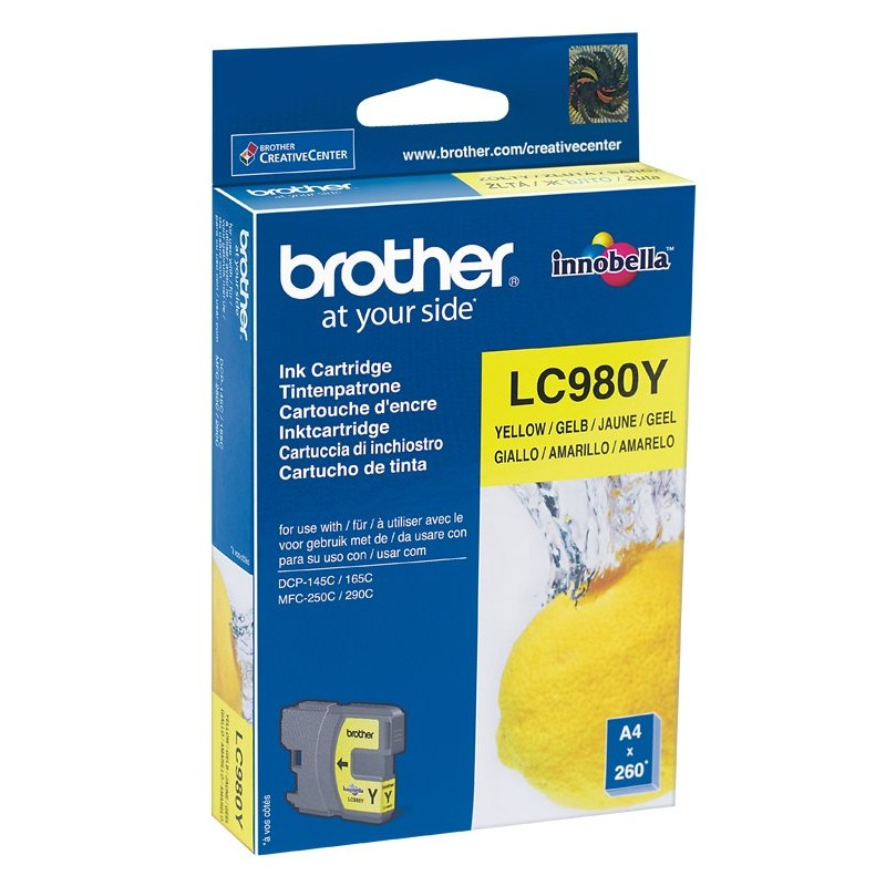 Brother LC980Y Yellow Ink
