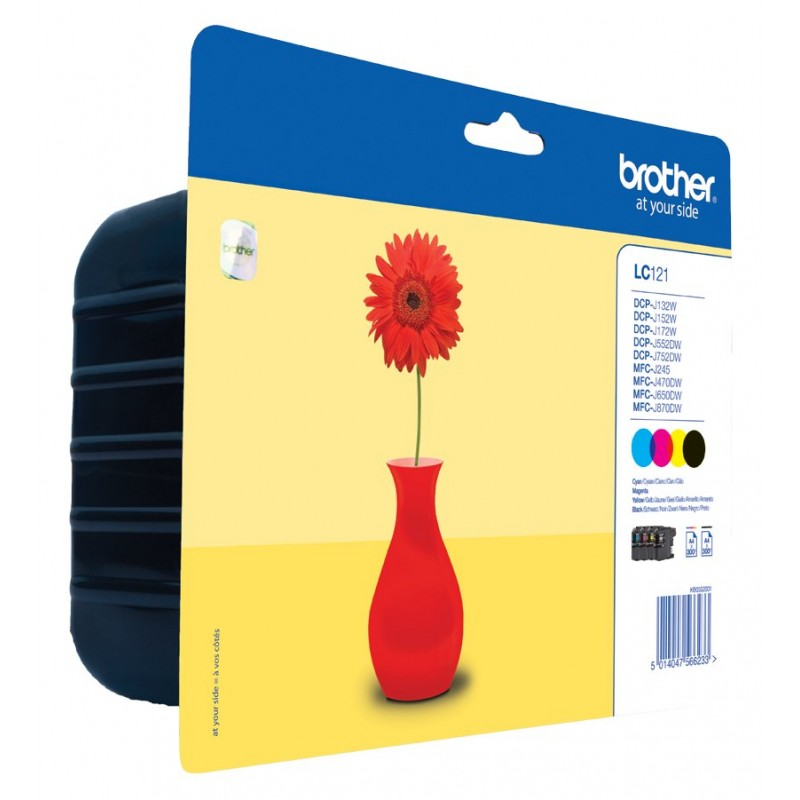 Brother LC121 ink pack 4 colors