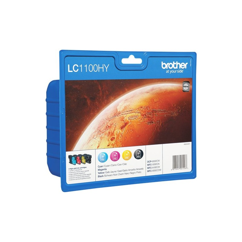 Tinta Brother LC1100 XL Pack de los 4 Colores