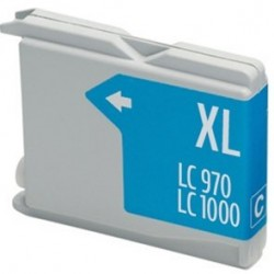 Compatible Ink Brother LC970 / 1000 Cian