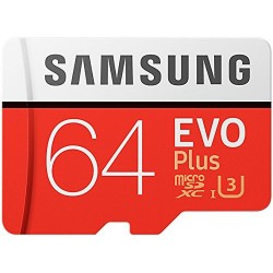 Tarjeta MicroSD 64GB HC Clase 10 Samsung Evo Plus