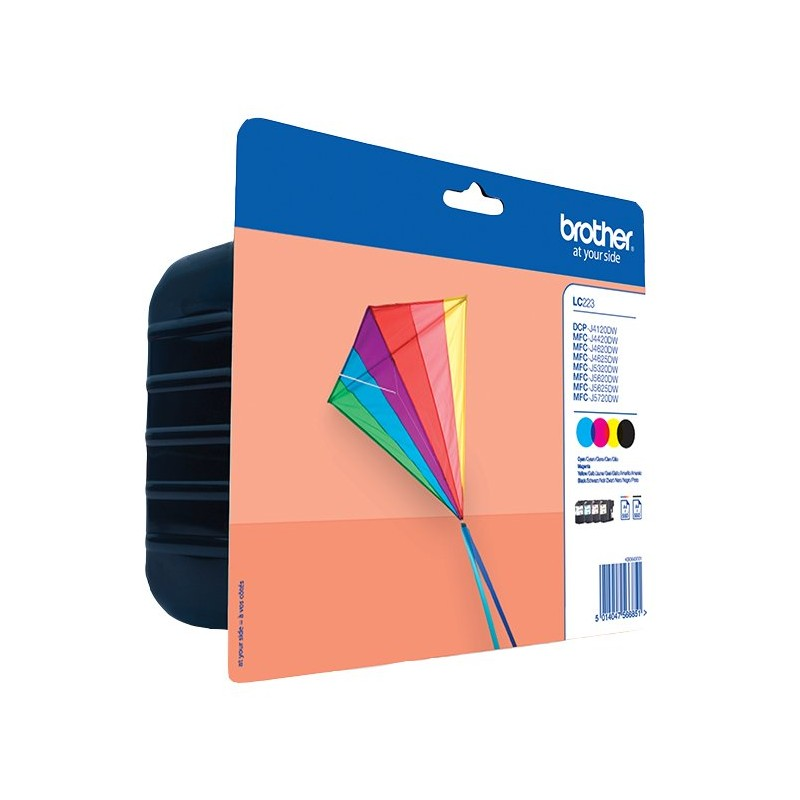Brother LC223 ink pack 4 colors