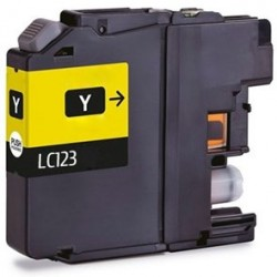 Brother LC123 Yellow Ink Compatible