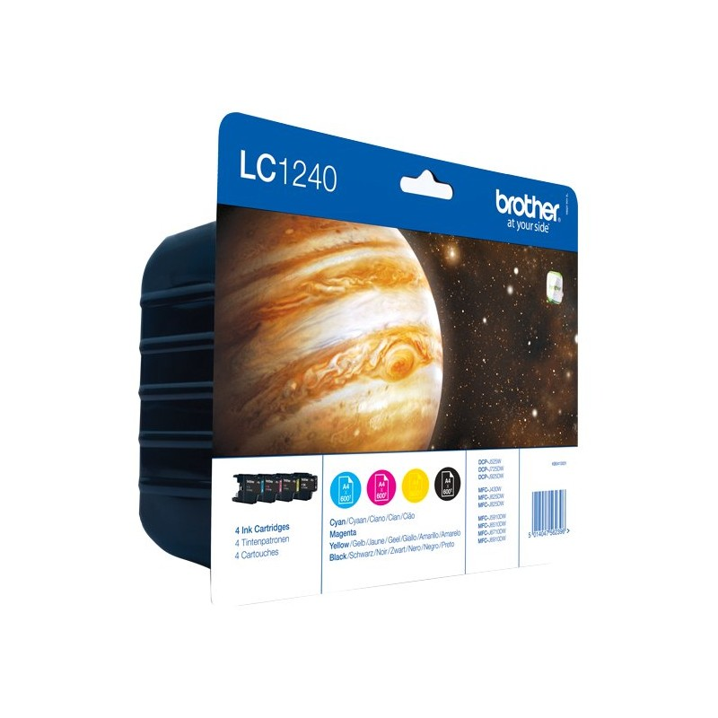 Brother LC1240 ink pack 4 colors