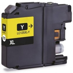 Tinta Compatible Brother LC125Y Amarillo