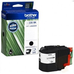 Tinta Brother LC22EBK Negro