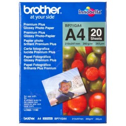 Papel Fotográfico A4 Brother Glossy 20 Uds