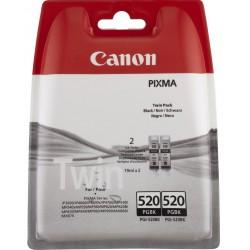 Tinta Canon 520 Negro PGI-520BK Twin Pack x2