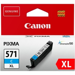 Tinta Canon 571XL Cian...
